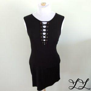NWOT BCBG Dress Black Short Sexy Sleeveless Laces